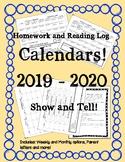 Classroom Calendars 2019 - 2020