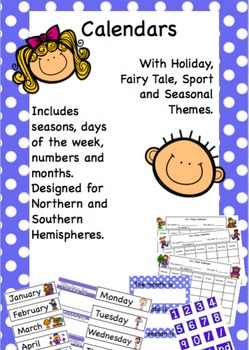Classroom Calendars for Everyday & Special Occasions.