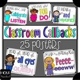Classroom Call Backs Posters - Call and Response - Attention Grabbers (Kute Kid)