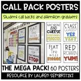 Classroom Callback Posters THE MEGA PACK (Classroom Management)