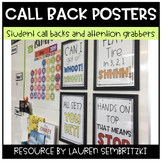 Classroom Callback Posters for Classroom Management