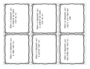 Classroom Calling Choice Cards