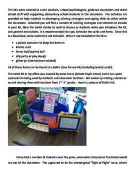 Classroom Calm-Down Kit