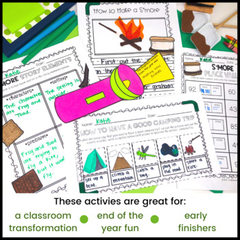 Classroom Camp Out [End of the Year Activities]