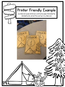 Classroom Campground Math Scoot: Telling Time to the Five Minute Mark