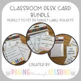 Classroom Card Bundle (for Target Adhesive Pocket Labels)