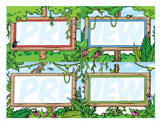 Classroom Cards - Jungle Theme