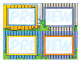 Classroom Cards - Picket Fence Theme
