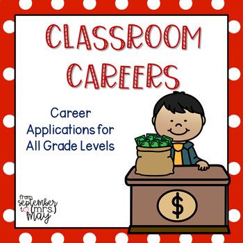 Classroom Careers FREEBIE, job application