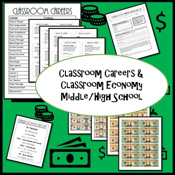 Classroom Careers/Jobs & Classroom Economy for Middle/High School
