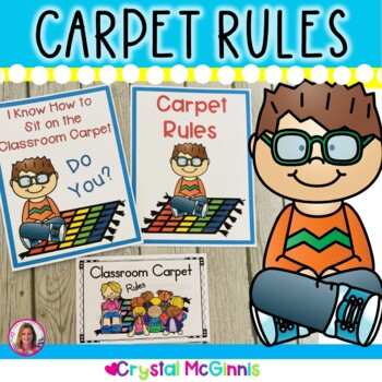 Classroom Carpet/Rug Rules! (I Know How to Sit on the Carpet) Books and Poster