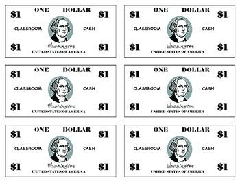 Classroom Cash ($1)