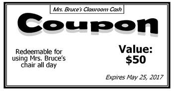 Classroom Cash Coupons