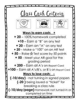 Classroom Castle Cash Packet $1- 500, Behavior Tickets & More