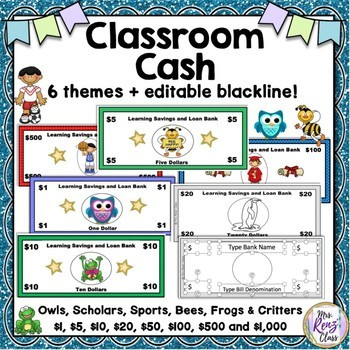 Classroom Cash (5 Themes)