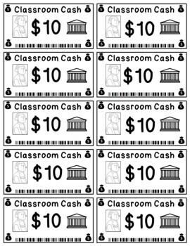 Classroom Cash - Rewards/Classroom Money/Incentives/Bucks