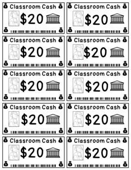 Classroom Cash - Classroom Money Rewards System/Incentives/Bucks