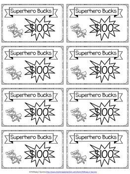 Classroom Cash with Superhero Theme
