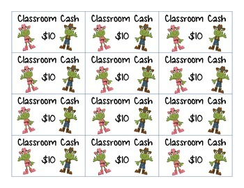 Classroom Cash and Reward Coupons - Western Theme
