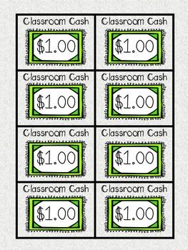 Classroom Cash and Rewards