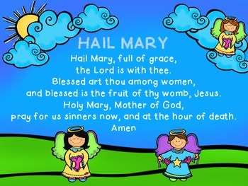 Image result for hail mary prayer for kids