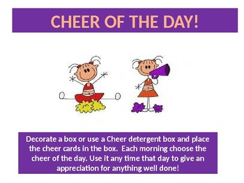 Classroom Celebration Cheers