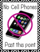 Classroom Cell Phone and Device Usage Policy Posters