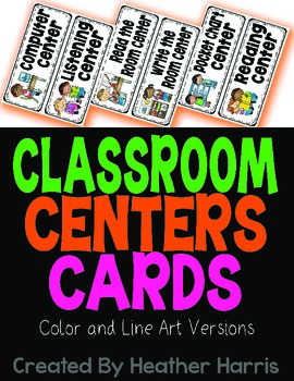 Classroom Center Cards