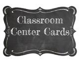 Classroom Center Cards