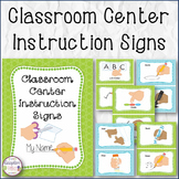 Classroom Center Instruction Signs