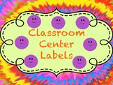 Classroom Center Labels