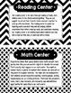 Classroom Center Labels and Descriptions
