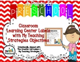 Classroom Center Labels based on My Teaching Strategies an