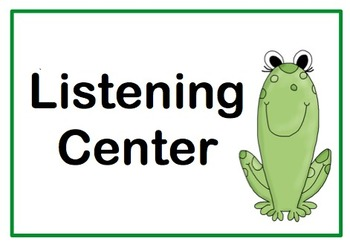 Classroom Center Signs - 19 Signs - Frog or Toad Theme