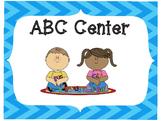 Classroom Center Signs-Aqua