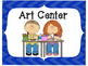 Classroom Center Signs-Blue