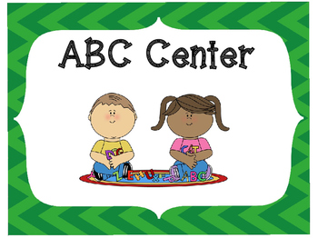 Classroom Center Signs-Green