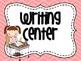 Classroom Center Signs- Light Pink Chevron