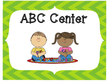 Classroom Center Signs-Lime
