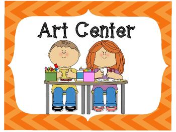 Classroom Center Signs-Orange