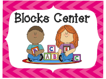 Classroom Center Signs-Pink