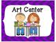 Classroom Center Signs-Purple