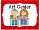 Classroom Center Signs-Red