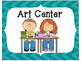 Classroom Center Signs-Teal