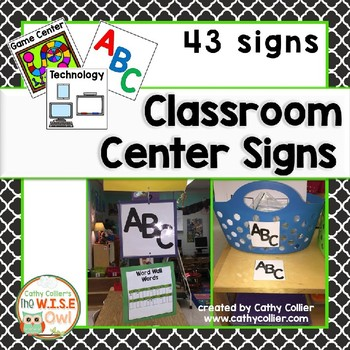 Classroom Center Signs: Updated 9/17