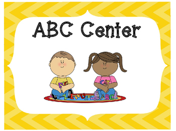 Classroom Center Signs-Yellow