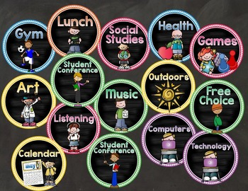 Classroom Center Signs and Labels for Preschool or Kindergarten