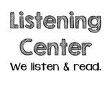 Classroom Center Signs for PreK/TK/Kinder