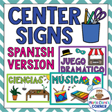 Classroom Center Signs in SPANISH