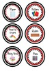 Classroom Center Supply Labels- Red and Black